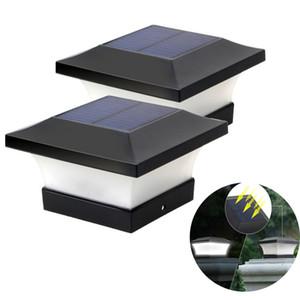 4X4 سياج الشمسية مشاركة كاب ضوء IP65 في الهواء الطلق مصباح للطاقة الشمسية لحديقة الديكور بوابة الجدار جدار فناء الكوخ مصباح للطاقة الشمسية