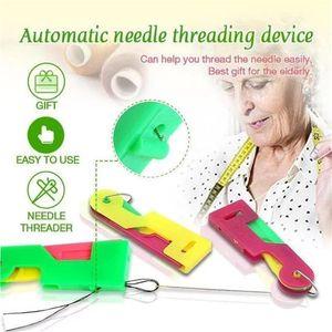 New Sewing Einfädler Fingerhut Gewindewerkzeug Einfädler älteres Anleitung Einfache Geräte automatischer Faden Zu