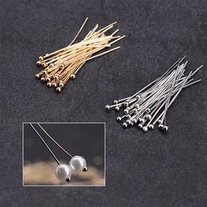 500pcs / Lot de cuivre Head Pins Perles T-broches Perles de bricolage Perles Fabrication de bijoux Accessoires Boucle d'oreille Fournitures Constats