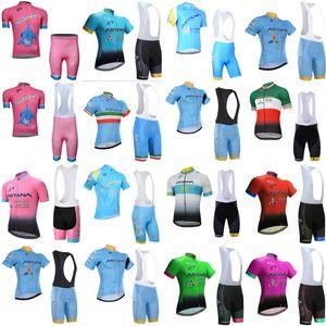ASTANA ekibi Bisiklet Kısa Kollu forması (önlük) giyim nefes açık dağ bisikleti B612-36 bisiklet şort takımları