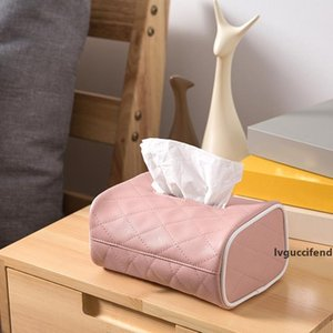 Tissue Boxes Napkin Holder Auto Home Use Paper Cover Case Holder PU Leather Tissue Box can CSV