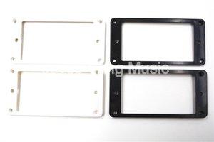 4 pezzi nero piatto di plastica Humbucker Pickup Holder telaio anello di montaggio 3 * 5/5 * 7mm