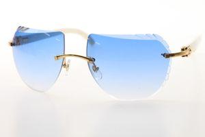 Factory Glasses White Design Hot Genuine High Women 8200763 Sunglasses Natural Wholesale Rimless Horn Quality Sunglasses 2020 Men Dsdmp