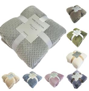 Hiver doux chaud Flanelle Couvertures Lits couverture Voyage voiture Couverture molleton Mink Throw Sofa Couvre-lit Couvertures Plaid