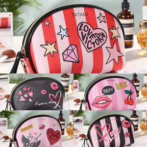 2020 Women's striped dumpling creative spray makeup dumpling Dumplings and dumplings painting handbag storage cosmetic bag