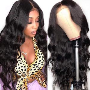 Onda corporal 13x4 pelucas frontales de encaje de encaje Brasileño Virgen humano 360 pelucas de encaje completo para mujeres color natural