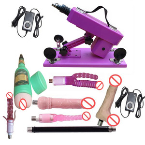 Newest Purple Color Automatic Retractable Sex Machine Gun, Love Gun with Vagina Cup and Anal Dildo, Sex Machine for Women and Men
