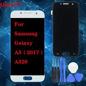 For Samsung Galaxy A320 LCD Display Digitizer with Touch Assembly A3 2017 A320X A320 A320H A320F A320FU display TFT brightness adjust