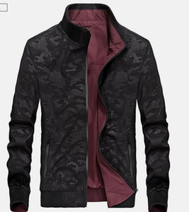 Spring Autumn New Men's ClothingTwo-Way Jacket Casual Stand Collar Camouflage Outerwear Coat