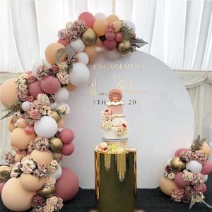 171pcs bricolage rétro poussiéreux rose ballon de pêche guirlande arc Kit or ballon blanc pour l'anniversaire bébé douche mariages fête décoration