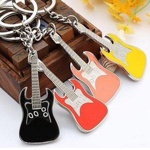muti-colorl гитара брелок мода цинковый сплав металла гитара брелок мода творческий гитара брелок сувениры пряжка брелок