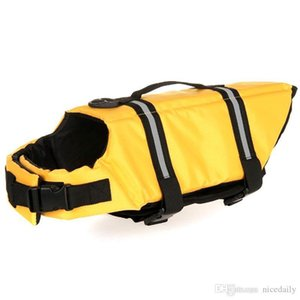 Cão Colete salva-vidas, ajustável Dispositivo Dog Lifesaver Flotação Dogs Life Vest Jacket Dog Swim Vest Dogs conservante de vida