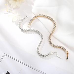 2020 Новый Урожай Серебро Золото сплава Полный Rhinestone браслет для женщин Fashion One Row CZ циркон теннис браслеты свадьба подарки