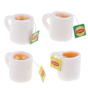 2adet / lot Mini Minyatür Dollhouse Coffee Cup Mutfak Odası Gıda İçecek Ev bulaşığı dekorları Bebekler Aksesuarları