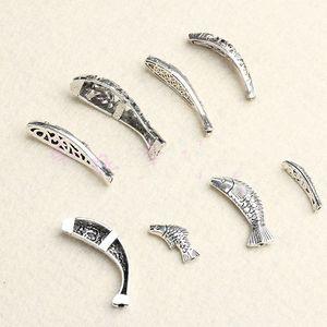 سبيكة الخرز فاصل أنواع من الأسماك Cyprinoid العتيقة الفضة صنع المجوهرات DIY سحر بالجملة الخرز النتائج