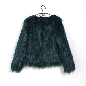 Chaqueta Bigsweety pelo flotante Abrigo de piel imitación piel de las mujeres abrigo de imitación Partido Hairy chaquetas de la capa caliente más el tamaño