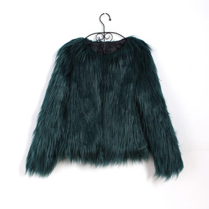 Bigsweety Floating Hair Jacket Fur Coat Women Fur Overcoat Imitation Faux  Jackets Hairy Party Warm Coat Plus Size