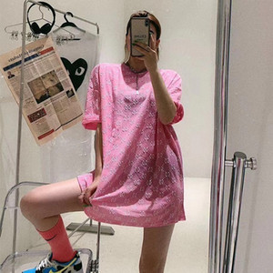 Web celebrity letter T-shirt for women 2020 summer dress full of printed loose short sleeves versatile casual student half sleeve women