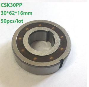 50шт/много CSK30PP 30 мм один способ сцепления подшипник с двойным пазом 30x62x16mm Спрага свободного хода обратного хода подшипник 30*62*16 мм