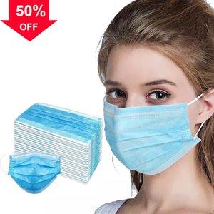 nppPR Mavi Tek 3 Lay filtre masker Nefes yüz Toz Koruma Ağız Koruyucu anti PM 2.5 y karbon Maske