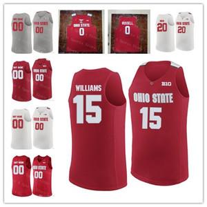 Los hombres baratos de Custom Ohio State Buckeyes baloncesto de la universidad 0 D'Angelo Russell 4 Aaron Craft 1 Conley 22 Jackson Cosido NCAA jerseys calientes de la venta
