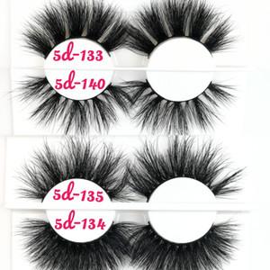 49 stili 5D 25 millimetri visone Ciglia finte Trucco degli occhi morbida naturale 3d visone ciglia Faux dei cigli dell'occhio Ciglia Extension Logo privato adesivo Lash