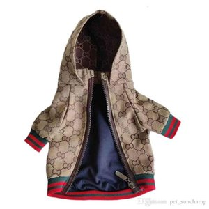 Spring Letter Pet Жакеты Классический вышивки Pattern Pet пальто Открытый Личность Шарм Тедди шнауцеры Одежда