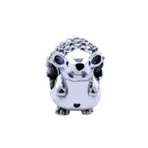 Nueva Fit original de la marca auténtico encanto de la pulsera de plata de ley 925 Animal Nino los granos de los encantos Hedgehog para la joyería que hace Berloque niños