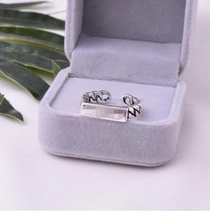 S925 Sterling Silver Простой бренд Mens и женщин моды кольцо