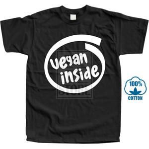 Vegan Inside T Shirt Adesivo Oem Tuning Men Camiseta Impressão de Algodão de Manga Curta Camiseta