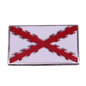 Испанская империя Флаг Знак Крест Бургундии Pin национального декора