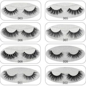 Lash Mink pestañas pestañas de pelo de visón 3d Venta al por mayor 100% de piel de visón real pestañas hechas a mano pestañas gruesas 11 estilos