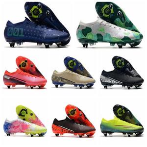 Los nuevos Mens Mercurial vapores 13 XIII Elite SG-PRO AC CR7 Zapatos Ronaldo NJR Neymar Jr. Mujer de Boys fútbol Botas de fútbol grapas del US6.5-11