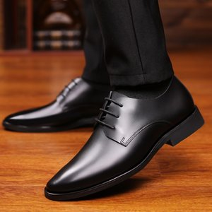 Designer Formal Oxfor Casuald for Men Wedding Shoes Leather Italy Pointed Toe Mens Dress Shoes Sapato Oxford Mascul erf4