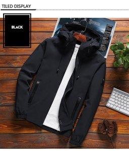 Мода Повседневная куртка Твердые куртки с капюшоном Мужская Мода Молния прямая поставка Пиджаки Slim Fit Весна Осень Одежда Бесплатная доставка