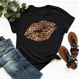 Kadınlar Dudaklar Harf Baskı Kısa Kollu T Shirt Casual Gevşek Tee blusas Tişörtlü Feminina Tops ??????? ???????? Üstleri ????????