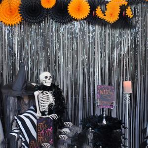 14 farben hochzeit hintergrund vorhang schimmer halloween gesäumten vorhänge party hintergrund vorhang geburtstag dekorationen liefert bh 2065 zx