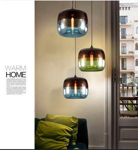 Moderno Nordic Art Deco colorato appeso lampada a sospensione in vetro Lights Fixtures E27 LED per cucina ristorante soggiorno camera da letto