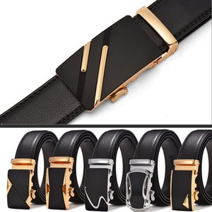 Hot Selling Two-Layer Leather Automatic Buckle Belt Mens Leather Belt Mens Young and Middle-aged Fashion All-match Fashion Factory Wholesale