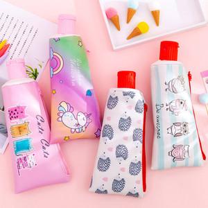 Kawaii Pen Fall Netter Zahnpasta-Bleistift-Kasten High Capacity-Bleistift-Beutel mit Spitzer für Kinder-Mädchen-Geschenke School Supplies