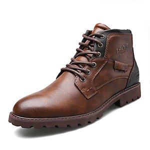 Men's Vintage Ankle Boots Autumn Winter Men Shoes Casual Male Leather Shoes Comfortable Man Boots 2019 New Arrival