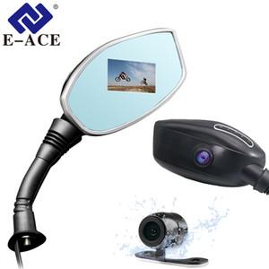 E-ACE Мотоцикл Dvr Зеркало заднего вида Камера Авто Цифровой видеорегистратор Мотоцикл Камера видеорегистратора с двумя объективами Видеокамера Авто Регистратор автомобиля