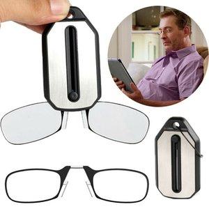 كليب الأنف نظارات القراءة مصغرة للطي نظارات القراءة الرجال والنساء يسهل حملها مع مفتاح سلسلة القضية cny1449