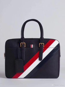 2019 men's tote bag American fashion designer briefcase stylish business style with leather straps to carry and cross body