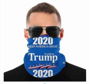 2020 Máscaras EE.UU. Donald Trump fisuras cuello polaina Escudo de la bufanda del pañuelo facial Protección UV para la motocicleta Ciclismo Montar Ejecución de las vendas