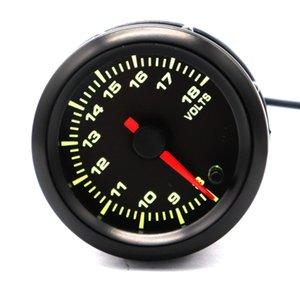 Car Motor 7 LED Color Light 52 milímetros 8V-18V volt voltímetro calibre ponteiro do medidor