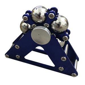 1pc Cinco Bead Ferris Wheel na ponta dos dedos de metal giroscópio inoxidável Bola Bracket Aço Dedo Gyro Fidget Spinner 3 cores