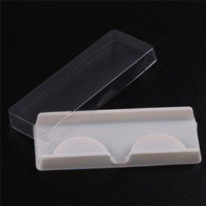 Packing box for eyelash blank eyelashes plastic packaging transparent lid white tray wholesales(100sets lot)