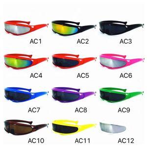 Bouclier Lunettes de soleil colorés Objectif Miroir famille de soleil cool lunettes X MEN Lunettes Futuriste Cyclope Neon Lunettes Taille adulte et enfants
