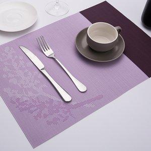 Küchentischauflagen Dining Dish Place Pads Leicht zu reinigende Tischsets Hitzebeständige Tischuntersetzungsmatten Gewebte Vinyl-Tischsets Rutschhemmendes Design